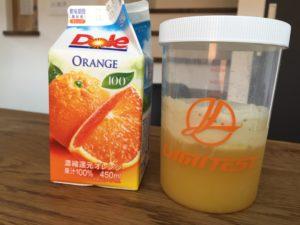 プロテイン100%オレンジジュース割り
